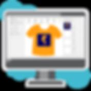 create a t-shirt design online using PC.