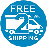 free ground shipping via U.S.P.S., UPS, FedEx, Truck