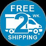 free ground shipping via U.S.P.S., UPS, FedEx, Truck