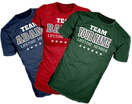 custom printed team, your family name t-shirts