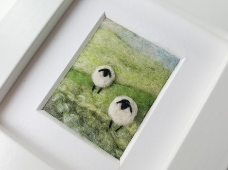 Felted sheep picture
