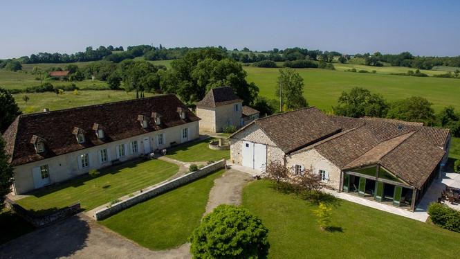 Aerial View of Manoir Le Bousquet