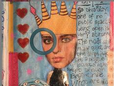 Art journaling - response to covid lockdown!