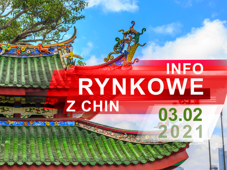 03.02.2021 - informacje z rynku chińskiego