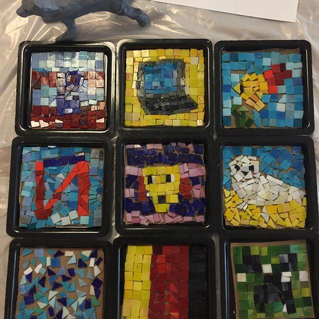 Mosaics at Unusual Art Materials art cam