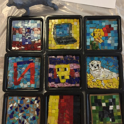 Mosaics at Unusual Art Materials art cam