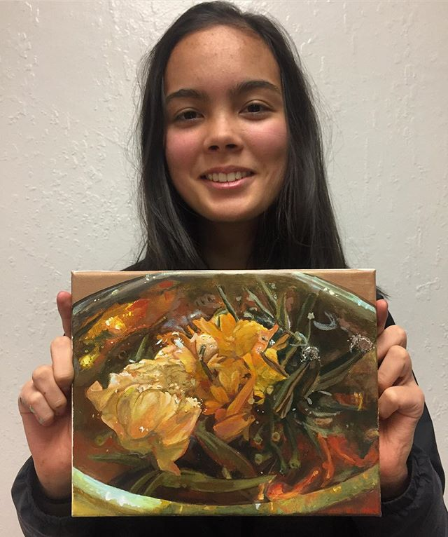Charlotte's hyperrealistic painting of a
