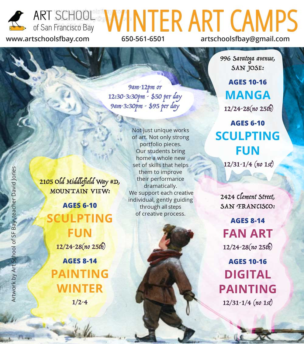 Winter Camps in San Francisco, Winter Camps in Mountain View, Winter Camps in San Jose