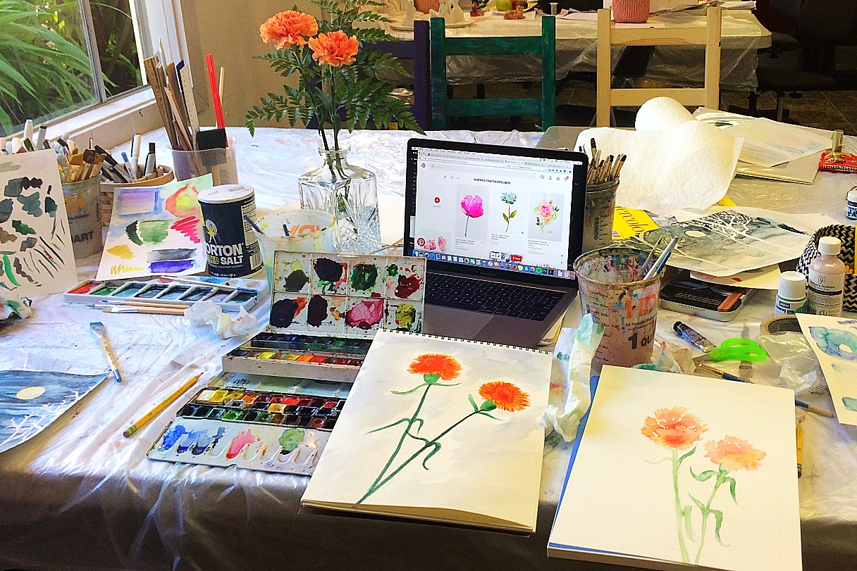 Watercolor Workshops for Adultts
