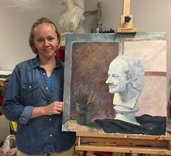 Advanced Adult Art course student Maria
