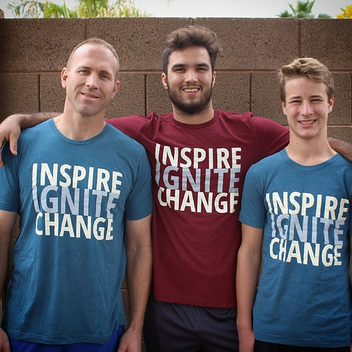 Inspire Ignite Change Unisex Triblend Tee
