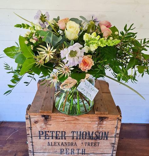 FLOWERS IN MEDIUM ECO APOTHECARY VASE