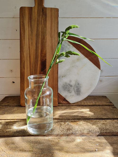CLEAR APOTHECARY BUD VASE - SMALL