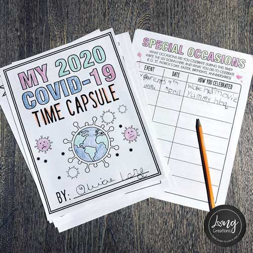 time capsule covid19  coronavirus 2020 diy craft