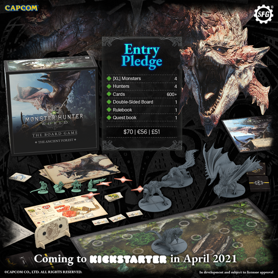 Monstyer Hunter World kickstarter Ad
