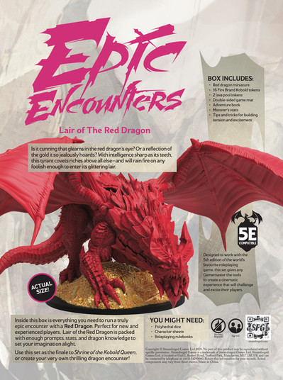 Epic Encounters - Back of Box