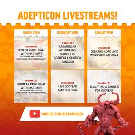 Adepticon LiveStream Timeline