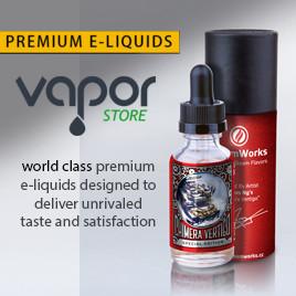 Website advert for E-liquid