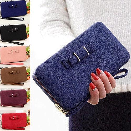 Brown phone purse