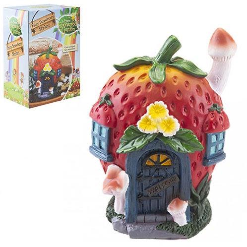 Secret garden strawberry fairy house