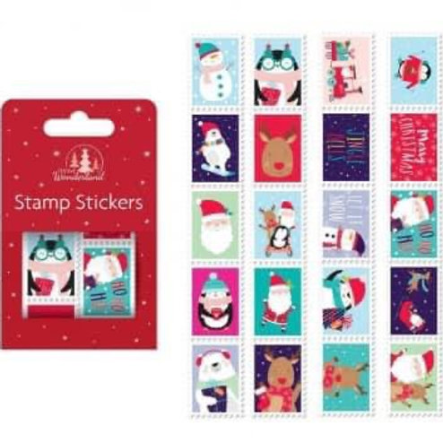 Christmas stamp stickers
