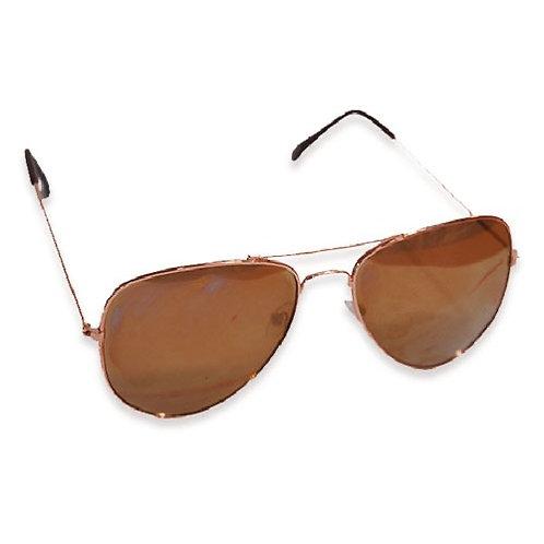 Ladies rose gold aviator sunglasses