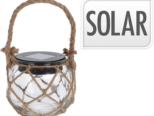 Hanging solar led jar