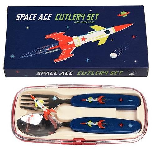 Space age children's cutlery set