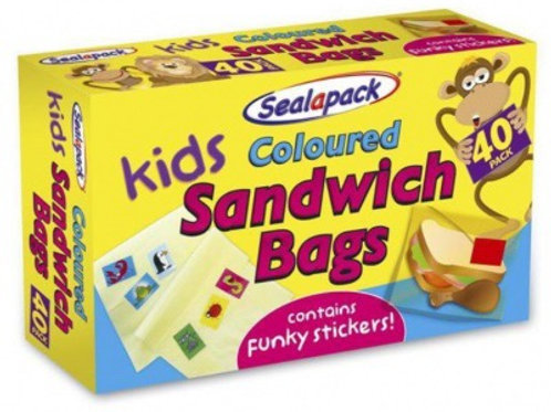 30 kids sandwich bags with stickers