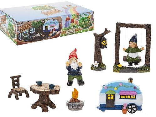 Fairy gnome & caravan set