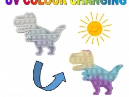 Colour changing dino pop fidget