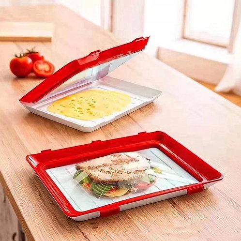 Set of 2 food fresh trays