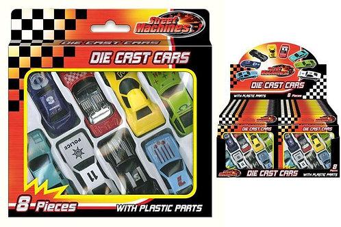 Die cast cars.