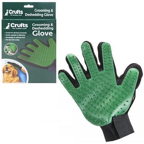 Crufts grooming glove