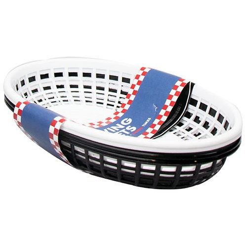 Pack of 4 BBQ serving baskets