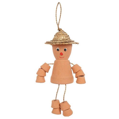 Small terracotta man