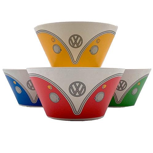 Set Of 4 Volkswagen Campervan Bowls