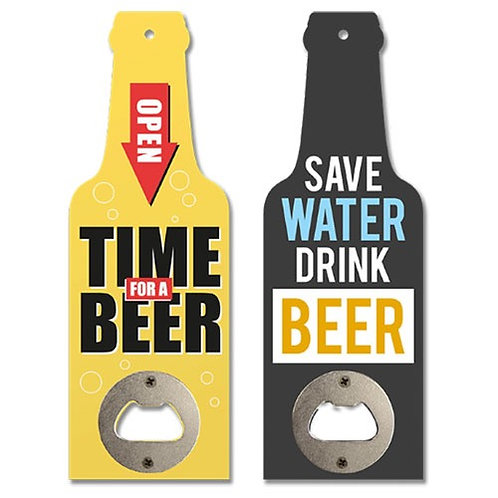 Novelty wooden bottle opener
