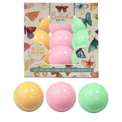 Pack of 9 bath bombs