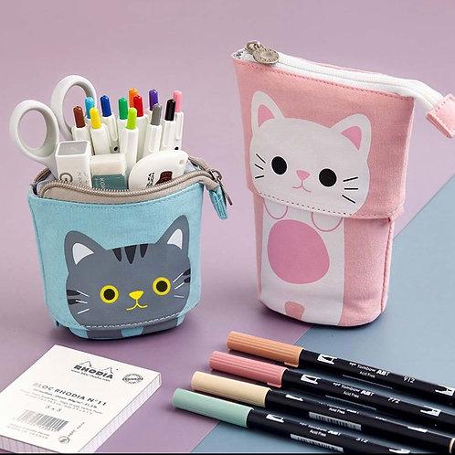Cat pop up pencil case