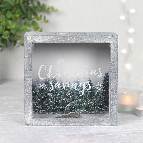 Christmas savings money box