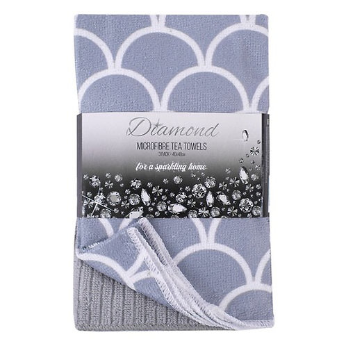 Pack of 3 Microfibre tea towels