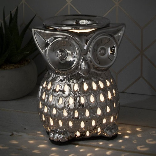 Silver owl aroma lamp
