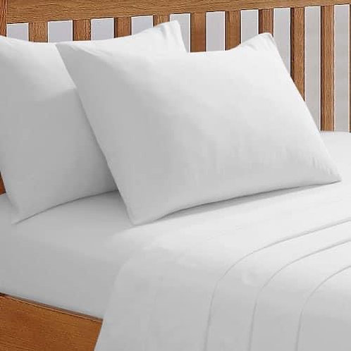 Single extra deep white fitted sheet