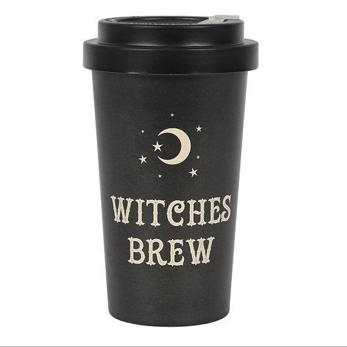 Witches brew eco bamboo travel mug