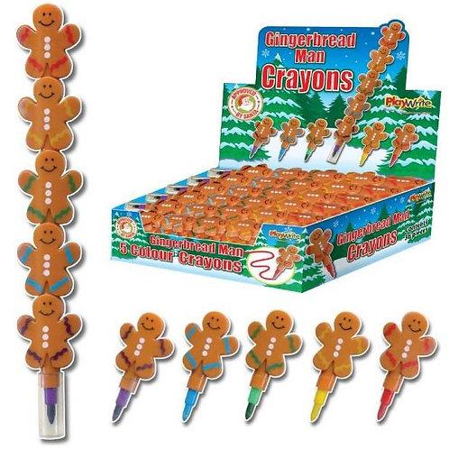 Gingerbread man swap point crayon