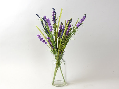 Lavender arrangement in glass vase
