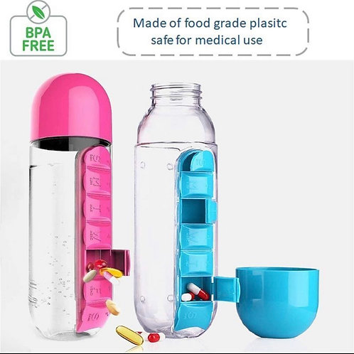 2-in-1 water bottle and pill case