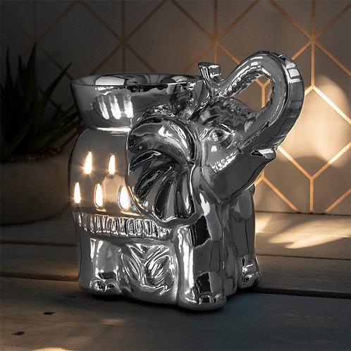 Silver elephant aroma lamp