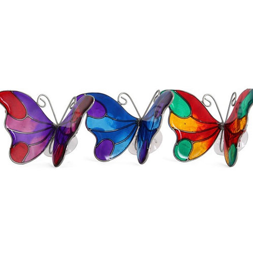 Butterfly suncatcher with suction cup